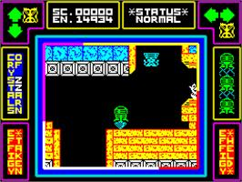 In game image of Lap of the Gods on the Sinclair ZX Spectrum.