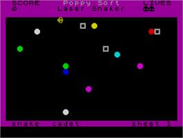 In game image of Laser Snaker on the Sinclair ZX Spectrum.