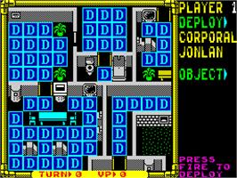 In game image of Laser Squad on the Sinclair ZX Spectrum.