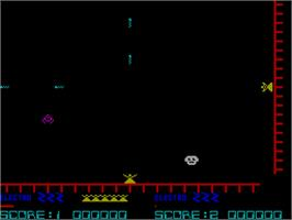In game image of Laser Zone on the Sinclair ZX Spectrum.