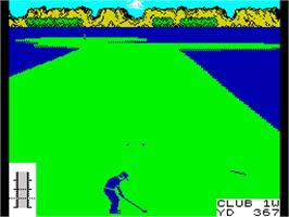 In game image of Leader Board on the Sinclair ZX Spectrum.