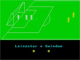 In game image of League Challenge on the Sinclair ZX Spectrum.