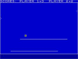In game image of Light  Cycle on the Sinclair ZX Spectrum.