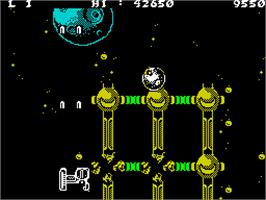In game image of Lightforce on the Sinclair ZX Spectrum.