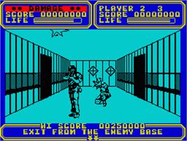 In game image of Line of Fire on the Sinclair ZX Spectrum.
