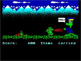 In game image of Little Puff in Dragonland on the Sinclair ZX Spectrum.