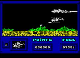 In game image of Live Ammo on the Sinclair ZX Spectrum.