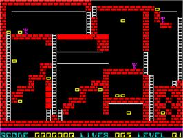 In game image of Lode Runner on the Sinclair ZX Spectrum.