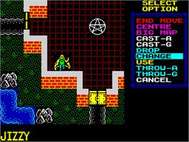In game image of Lords of Chaos on the Sinclair ZX Spectrum.