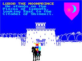 In game image of Lords of Midnight 2: Doomdark's Revenge on the Sinclair ZX Spectrum.