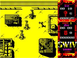 In game image of M.A.X.: Maximum Action Xtra on the Sinclair ZX Spectrum.