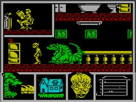 In game image of MOT on the Sinclair ZX Spectrum.