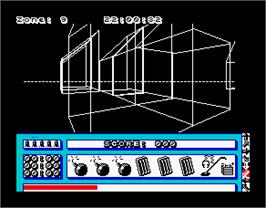In game image of Mach 3 on the Sinclair ZX Spectrum.