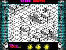 In game image of Mad Mix 2 on the Sinclair ZX Spectrum.