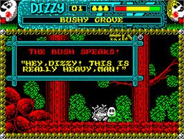 In game image of Magicland Dizzy on the Sinclair ZX Spectrum.