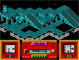 In game image of Magnetron on the Sinclair ZX Spectrum.