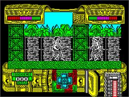 In game image of Mambo on the Sinclair ZX Spectrum.