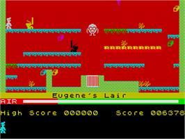 In game image of Manic Miner on the Sinclair ZX Spectrum.