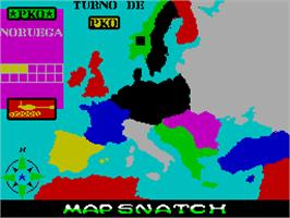 In game image of Mapsnatch on the Sinclair ZX Spectrum.