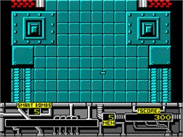 In game image of Marauder on the Sinclair ZX Spectrum.