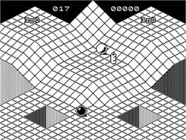 In game image of Marble Madness Deluxe Edition on the Sinclair ZX Spectrum.