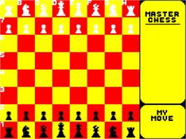 In game image of Master Chess on the Sinclair ZX Spectrum.