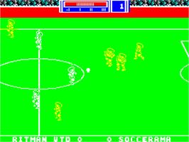In game image of Match Day II on the Sinclair ZX Spectrum.