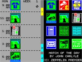 In game image of Match of the Day on the Sinclair ZX Spectrum.