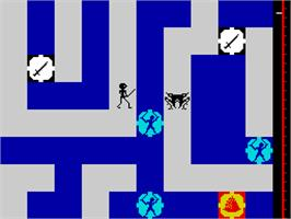 In game image of Maziacs on the Sinclair ZX Spectrum.