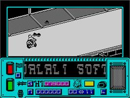 In game image of Mean Streak on the Sinclair ZX Spectrum.