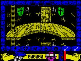 In game image of Mickey Mouse: The Computer Game on the Sinclair ZX Spectrum.