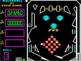 In game image of Microball on the Sinclair ZX Spectrum.