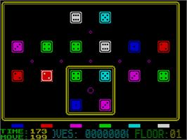 In game image of Mindtrap on the Sinclair ZX Spectrum.