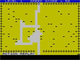 In game image of Mined-Out on the Sinclair ZX Spectrum.