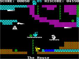In game image of Monty on the Run on the Sinclair ZX Spectrum.