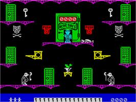 In game image of Moonlight Madness on the Sinclair ZX Spectrum.