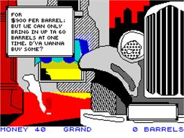 In game image of Mugsy's Revenge on the Sinclair ZX Spectrum.