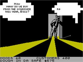 In game image of Mugsy on the Sinclair ZX Spectrum.