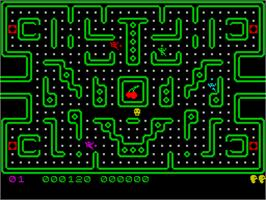 In game image of Muncher on the Sinclair ZX Spectrum.