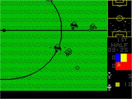 In game image of Mundial de Fútbol on the Sinclair ZX Spectrum.
