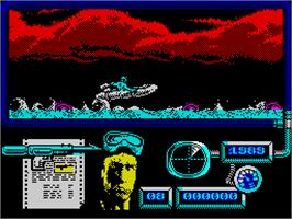 In game image of Navy Moves on the Sinclair ZX Spectrum.