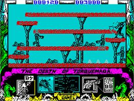 In game image of Nemesis the Warlock on the Sinclair ZX Spectrum.