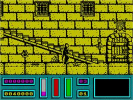 In game image of NightHunter on the Sinclair ZX Spectrum.