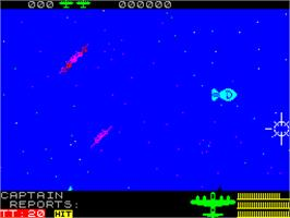 In game image of Night Gunner on the Sinclair ZX Spectrum.