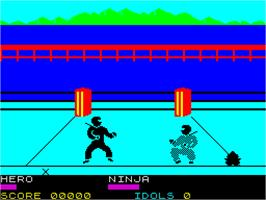 In game image of Ninja on the Sinclair ZX Spectrum.