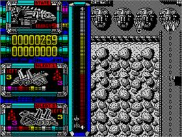 In game image of Ninja Gaiden: Shadow on the Sinclair ZX Spectrum.