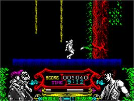 In game image of No Limits on the Sinclair ZX Spectrum.