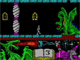 In game image of Nonamed on the Sinclair ZX Spectrum.