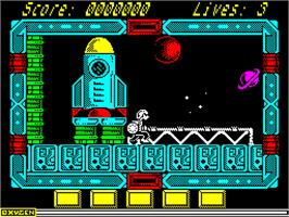 In game image of NorthStar on the Sinclair ZX Spectrum.