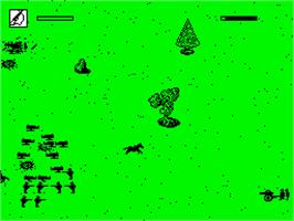 In game image of North & South on the Sinclair ZX Spectrum.